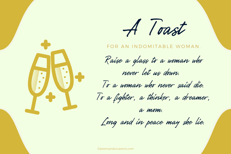 Funeral poem toast for mom