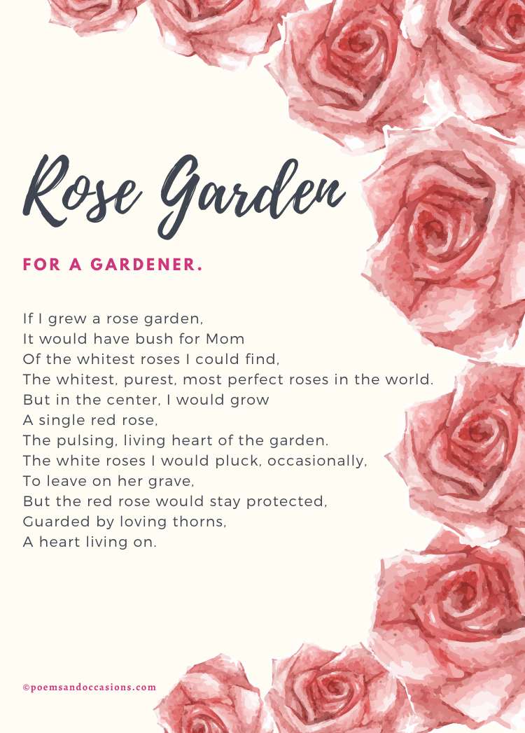 Funeral poems for mom rose