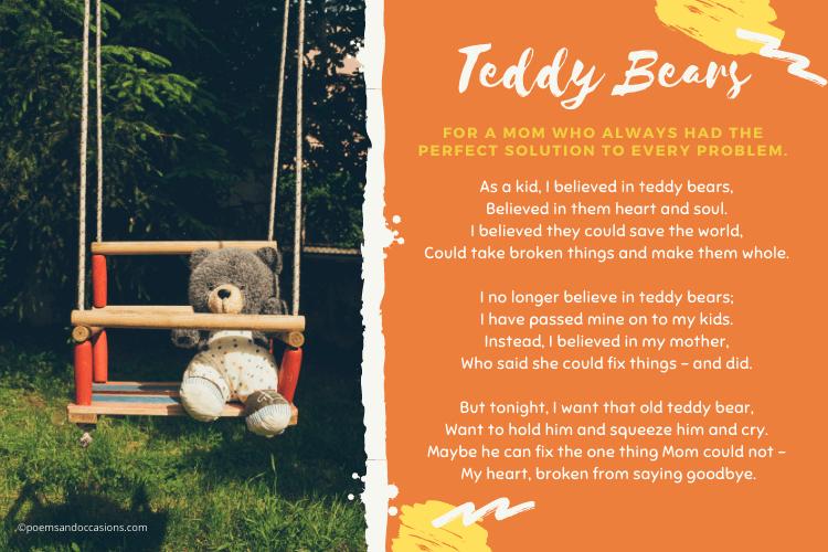 I believed in teddy bears