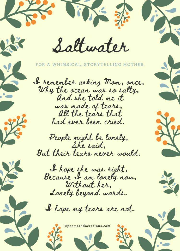 Poetry About Mothers Death