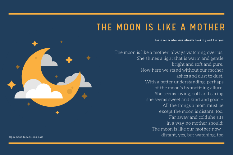 The moon is like a mother