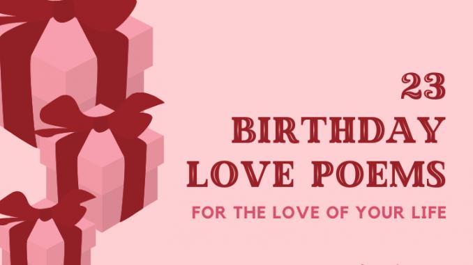Birthday Love Poems