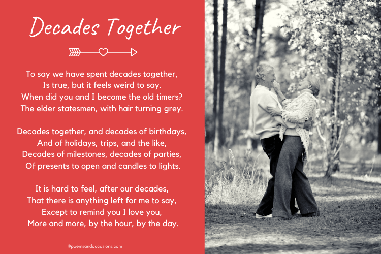 Birthday love poems elderly couple