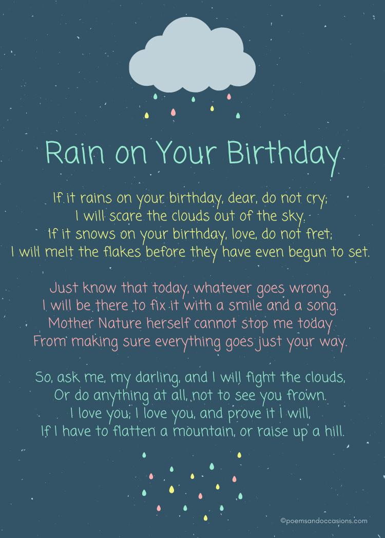 Rain on your birthday