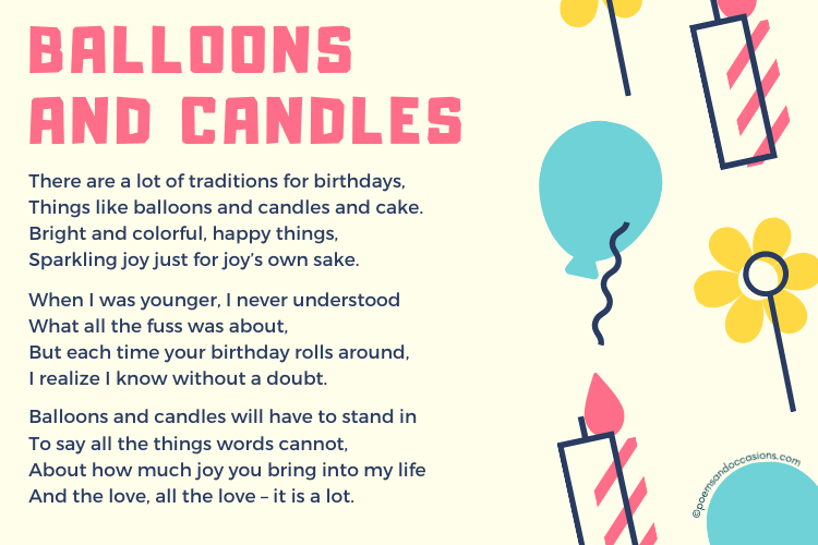 balloons and candles