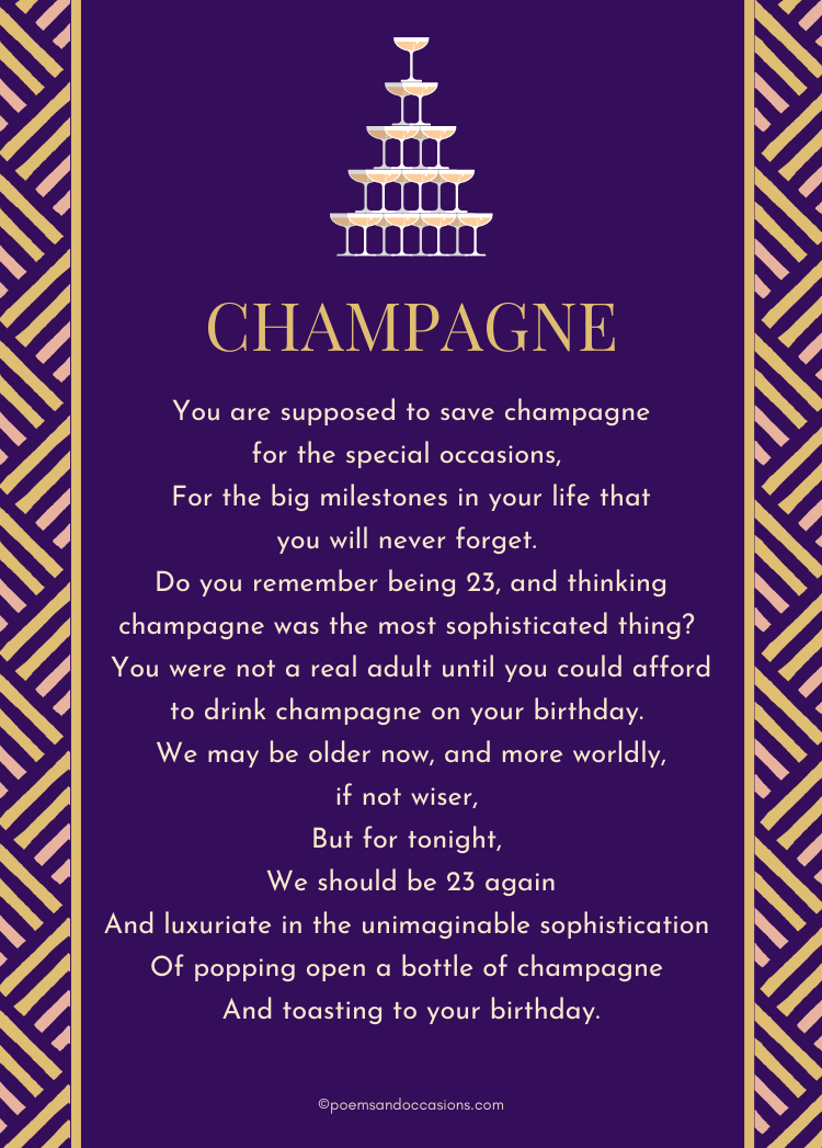 champagne poem