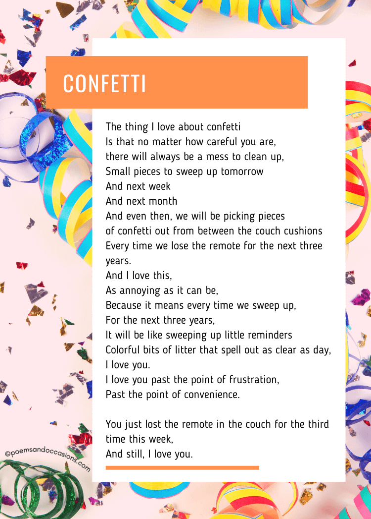 confetti poem