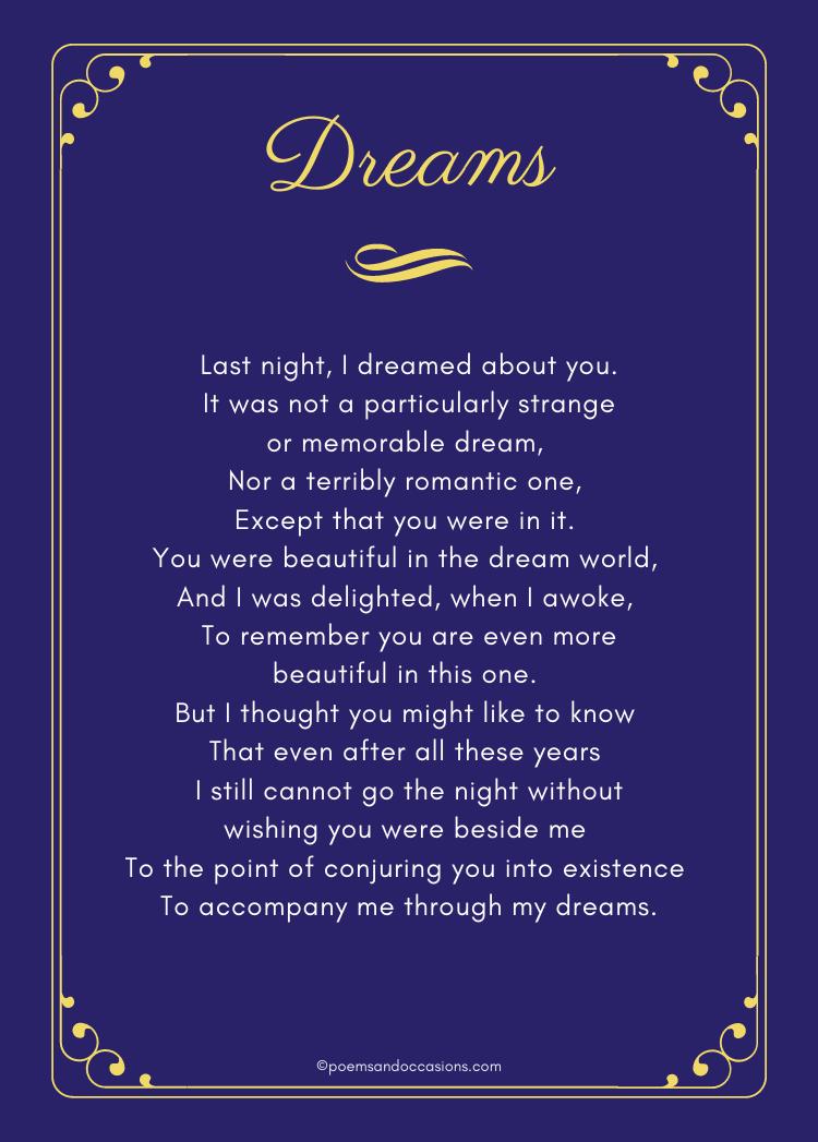dreams poem
