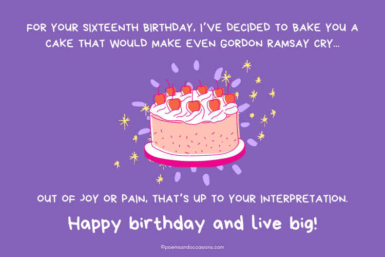 Baking a cake for your birthday