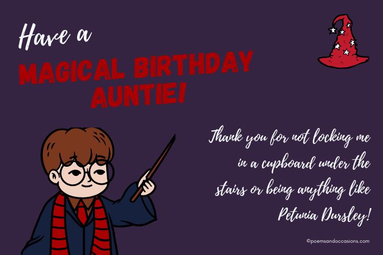 Happy Birthday Aunt harry potter