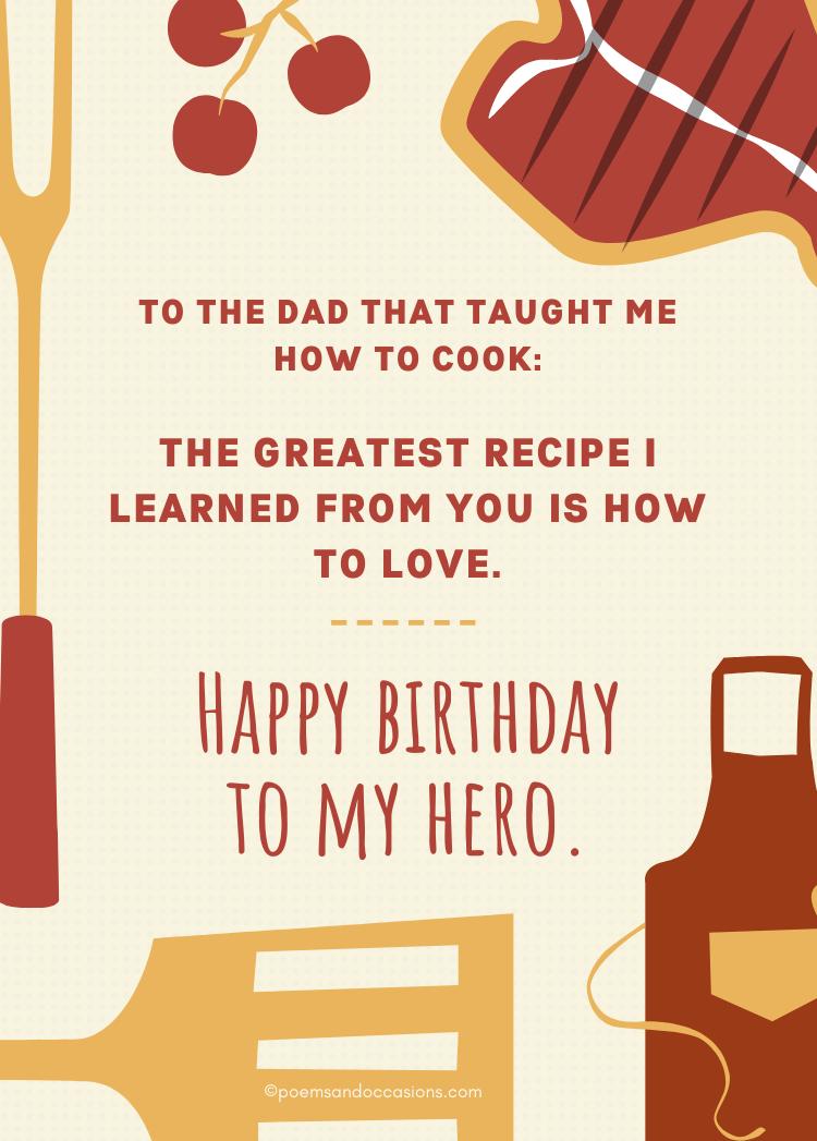 Happy Birthday Dad Cook