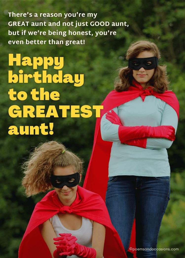 Happy Birthday Greatest Aunt