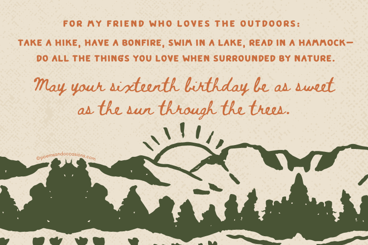 Happy birthday Friend who loves the outdoors
