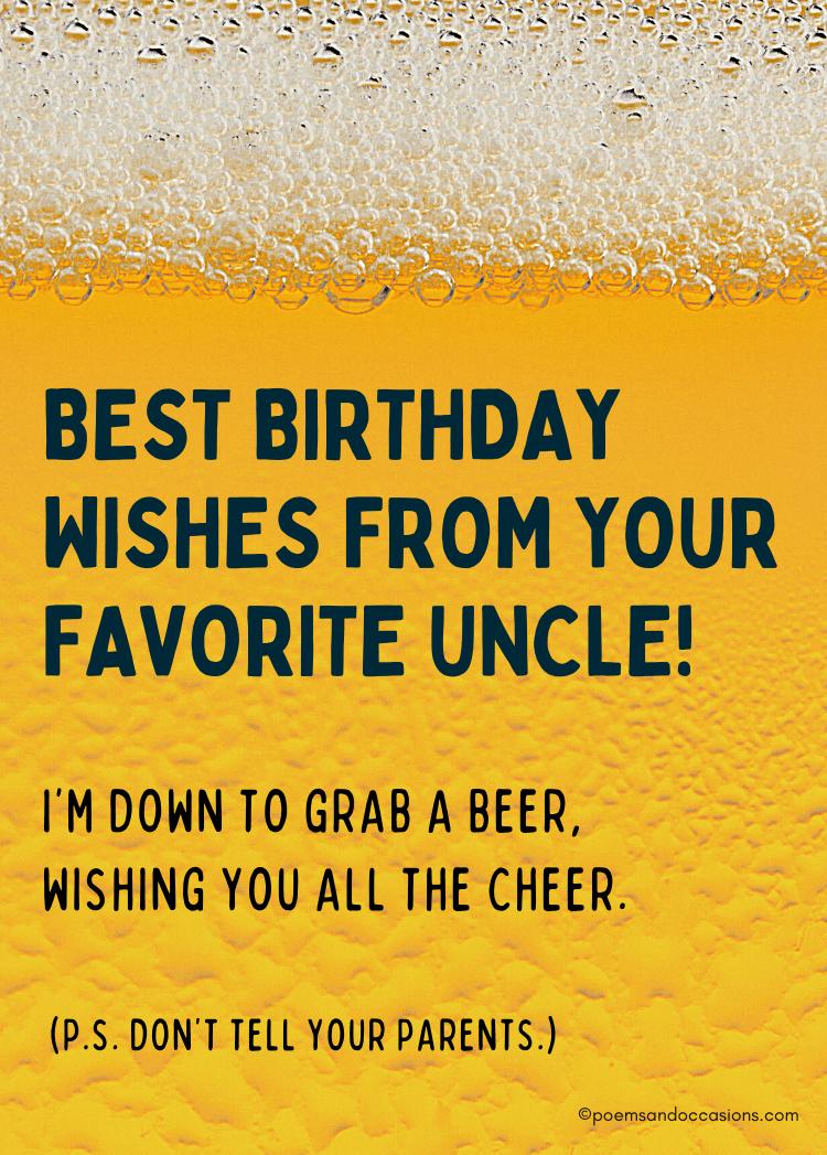 Happy birthday nephew beer