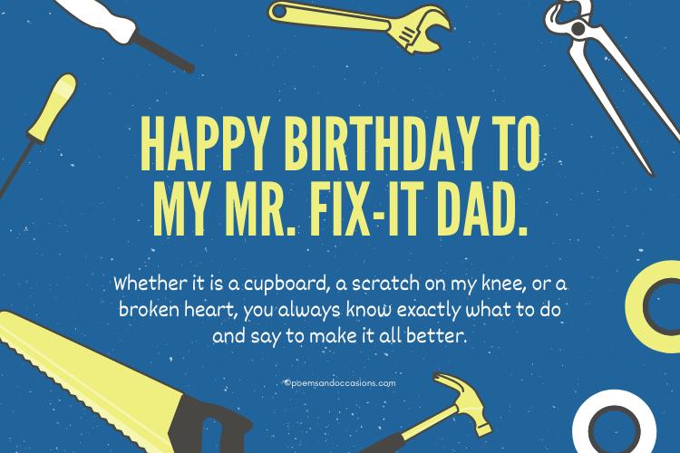 Mr Fix it dad