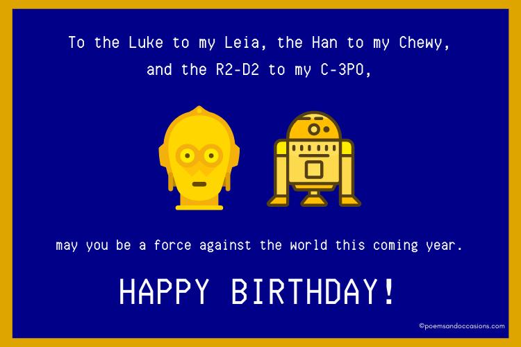 Star Wars Happy Birthday Cousin
