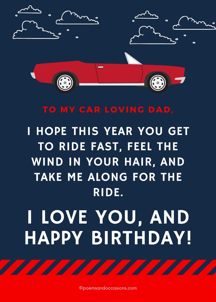 car loving dad
