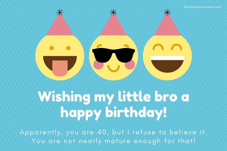 happy 40th birthday brother