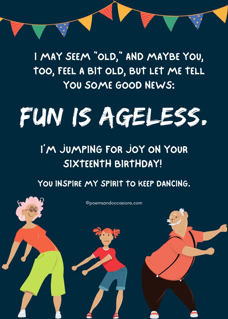 jumping for joy on sixteenth birthday