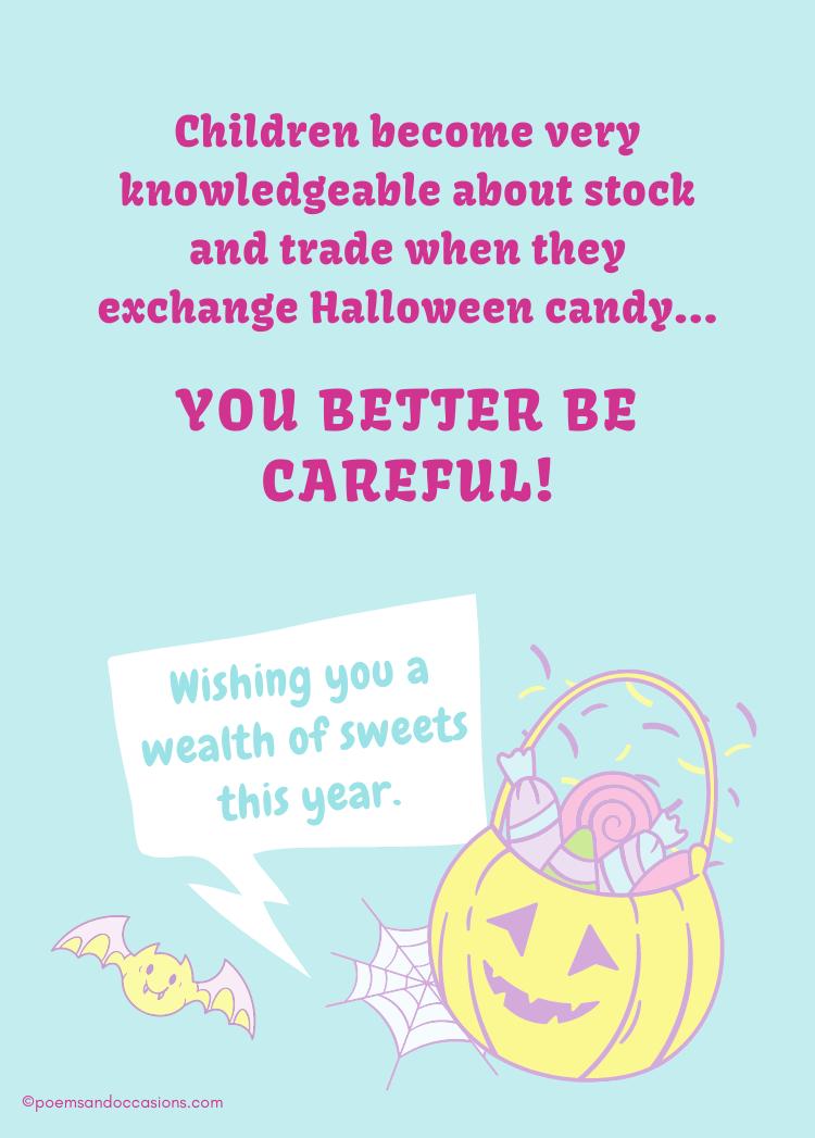 Halloween candy for children