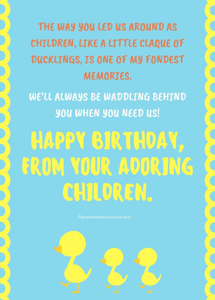Happy Birthday From adoring children