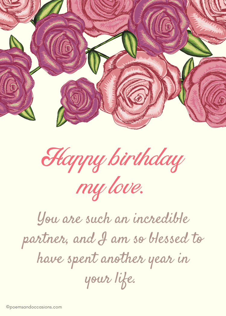 Happy Birthday Love Wishes For Her