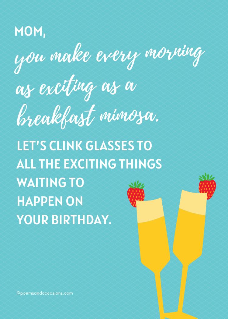 Happy birthday mom mimosa
