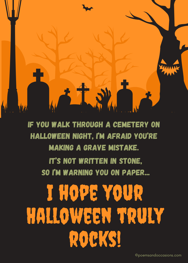 Hope your Halloween truly rocks