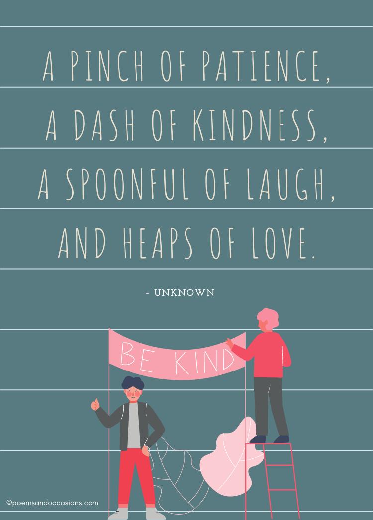 Recipe for kindness