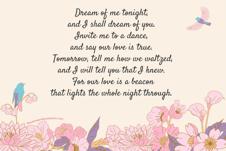 Romantic good night message