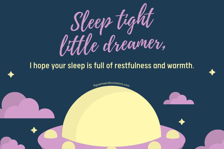 Sweet good night message