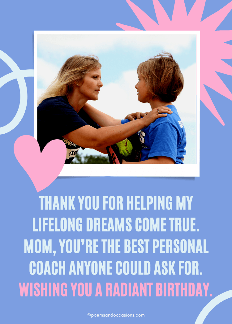 The best personal coach mom