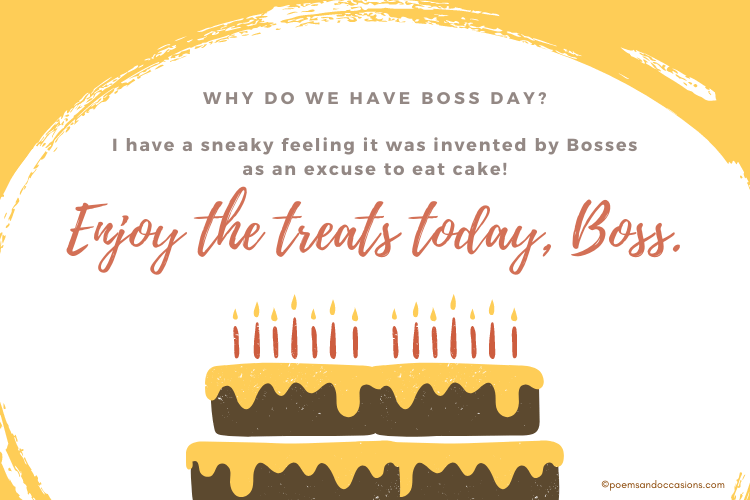 Why do we have Boss Day