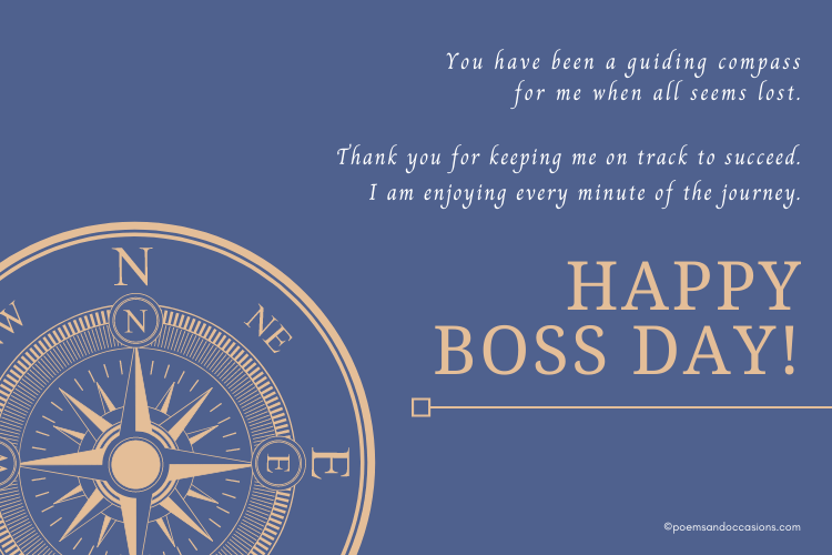 boss is a guiding compass