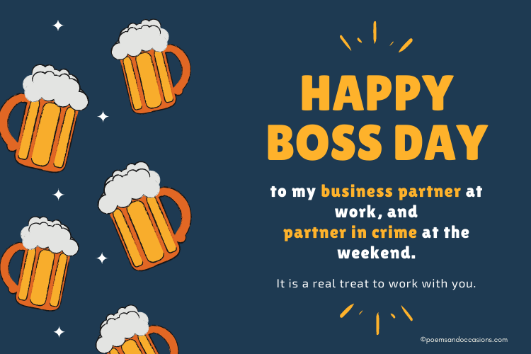 happy boss day messages for business partner