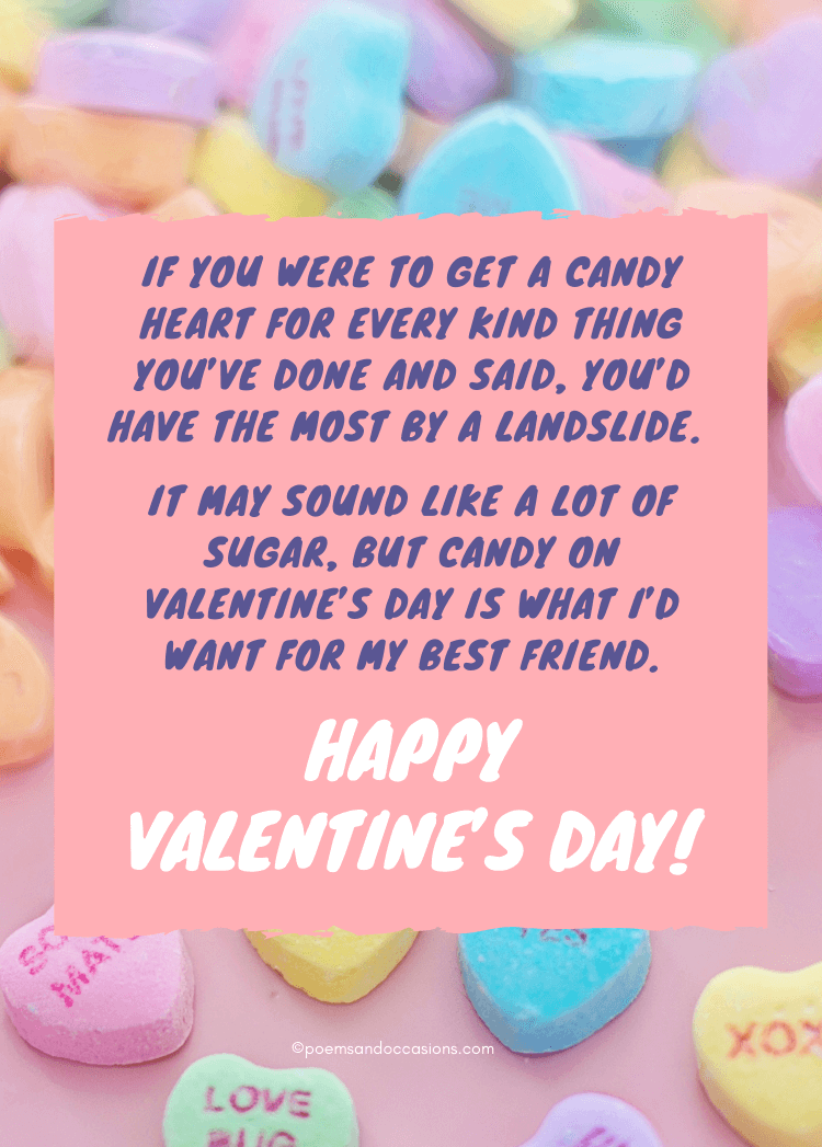 happy valentines day friend candy