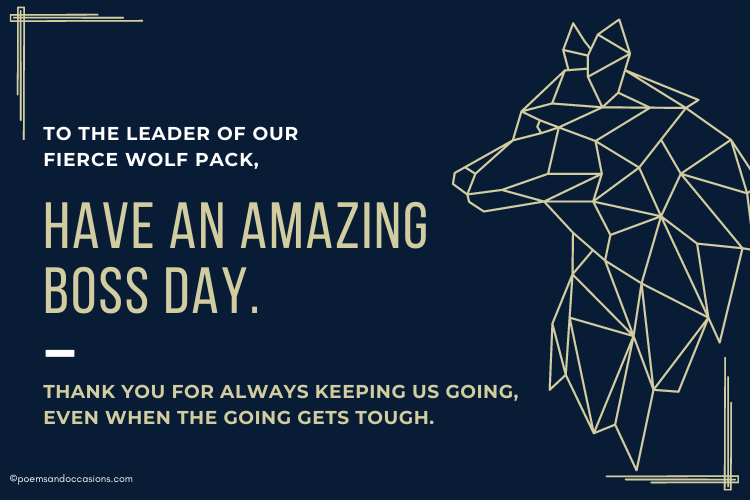 leader of our wolf pack