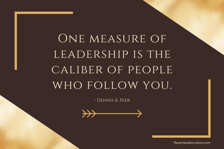 measure of leadership