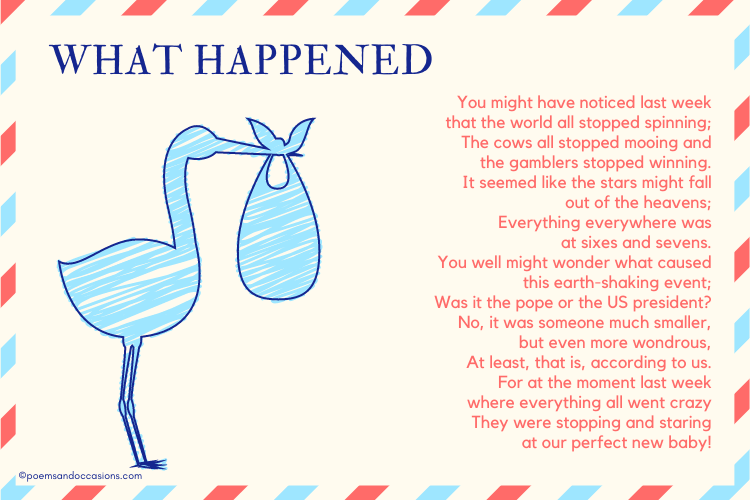 Baby Announcement Poems