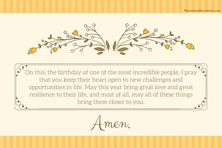 Birthday Prayers