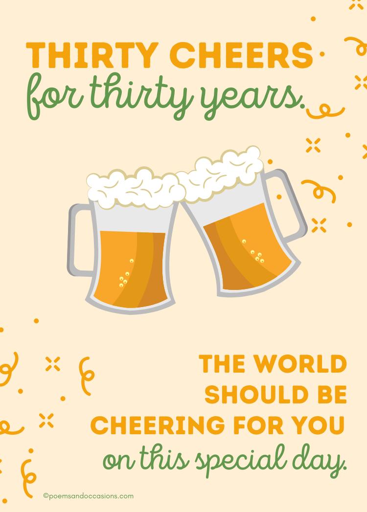 Cheers Happy 30th birthday