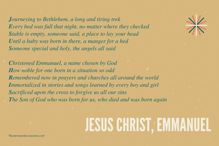 Christmas Poems About Jesus