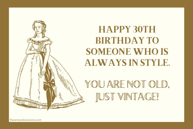 Happy 30th birthday Vintage