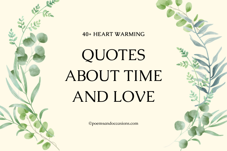 Quotes About Time And Love