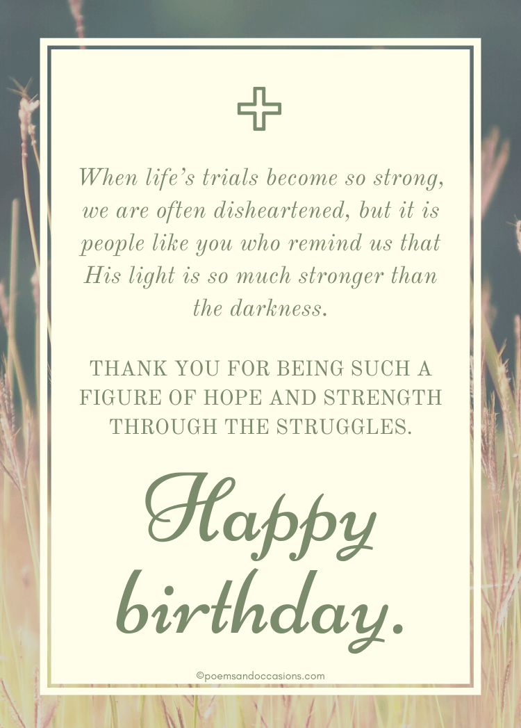 Religious Birthday Wishes For Him