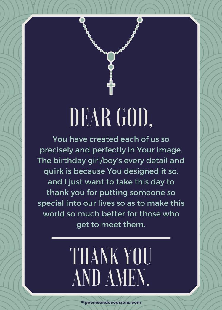 Religious Birthday Wishes and Prayers