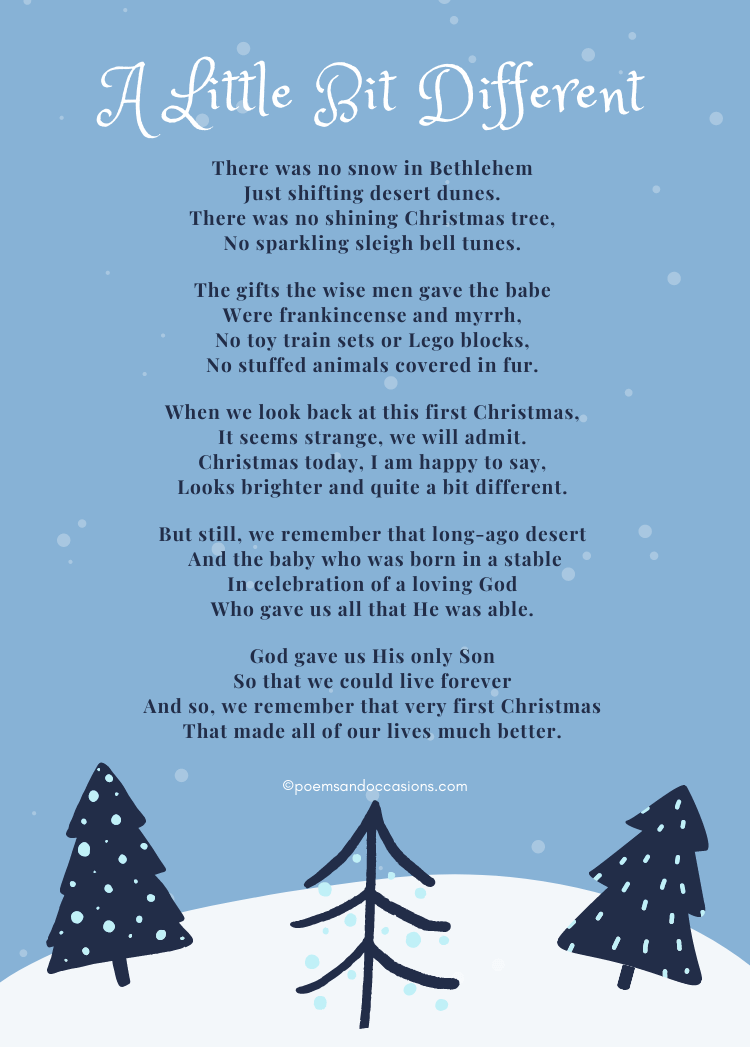 Religious Christmas Poems for Kids