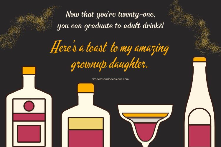 a toast to my amazing daughter