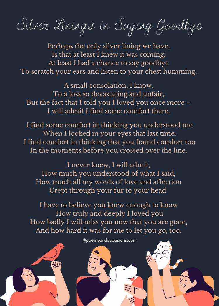 goodbye pet loss poems