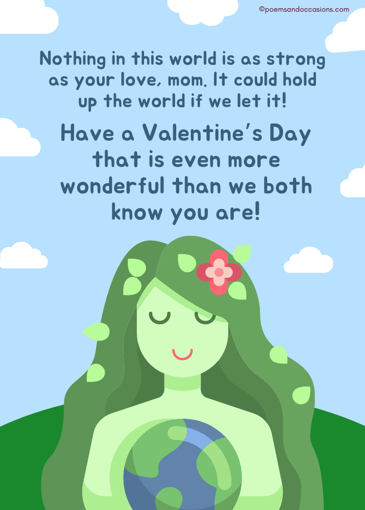 happy valentines day strong mom